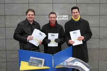 Die FDP Essen-Süd wirbt für den Bürgerentscheid.