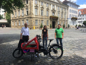 Kostenfrei e-Lastenrad in Esslingen mieten