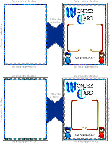Template for making wonder cards