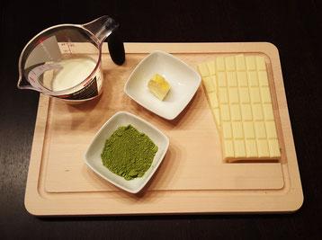 ingredients matcha green tea chocolates