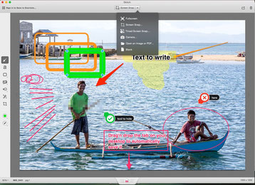 the very simple User interface of a powerful editor that is Skitch
