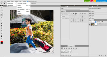 Photopea a free online photoshop able to save as a PSD file