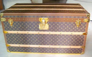 malle courrier haute louis vuitton pvc