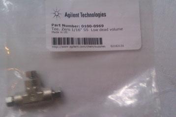 "Agilent Technologies 1/16"" Tee, 316 SST,Low Dead Volume Part No: 0100-0969"