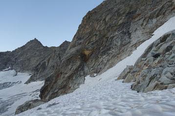 Hiendertelltihorn Ostgrat, Ostsporn, Zustieg, Einstieg, Touren Gruebenkessel, Gruebenhütte