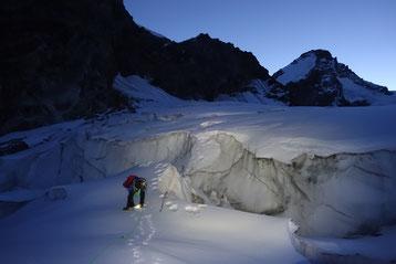 Hochtour, Dent d'Hérens, Glacier des Grand Murailles