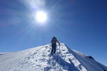 doldenhorn, Skitour, Skihochtour, Kandersteg, Tagestour, Gipfelgrat