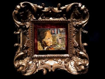 Шедевры Театра-Музея Сальвадора Дали в Фигерасе. Гала с двумя бараньими ребрышками, сохранящими равновесие на ее плече. (1933)
