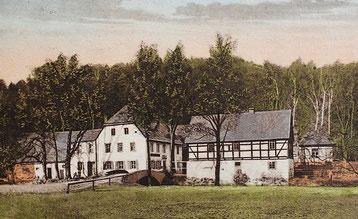 Grundmühle Liegau, um 1910, Grundmühle Wachau - früherer Name,