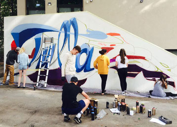 Graffity Workshop 2017: Unser neues Schul-Graffity