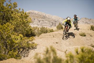 Foto: Christoph Laue - VAUDE Shooting Aínsa - Rider: François Bailly-Maitre & Kerstin Kögler