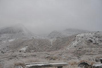 下山後夜明けの韓国岳!