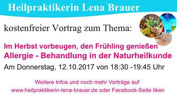 Vortrag Allergie Naturheilkunde Therapie  München Heilpraktikerin Lena Brauer
