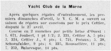 27 avril 1947: le n° 252 au prix Cettier du YC Marne