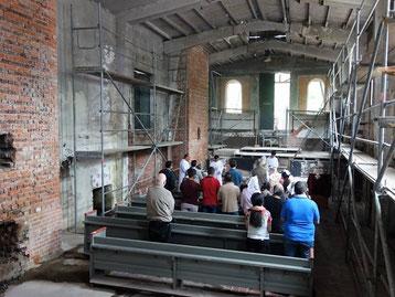 Gottesdienst in neuer Kirche in der ZUE. Foto: Daniela Rutica