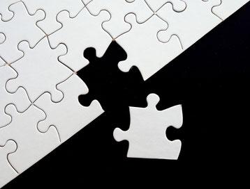 Fehlender Puzzle-Stein