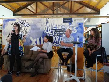 D'esquerra a dreta: Joana Serret, Daniela Gil, Àngel Buras i Anna Moner