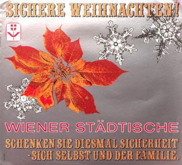 Wiener Sädtische Plakat der 1970er Jahre. Weihnachten.