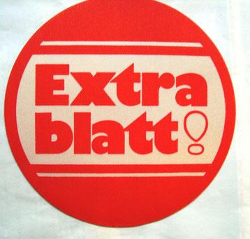 Extrablatt! Aufkleber