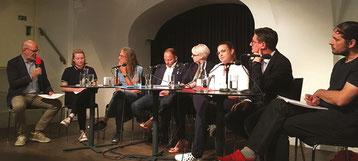 Mit ÖVP und FPÖ wird es auch in Zukunft keine Verbesserungen im Bildungswesen geben! Da waren sich die Vertreter*innen der kandidierenden Listen (fast) einig.   Bild:Gerhard Pušnik