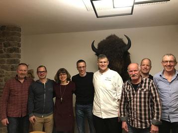 Der Vorstand des VC Lyss mit Florian Schirmer (4. von rechts)