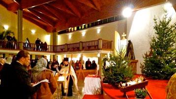 Рождественское богослужение в храме Святого Духа в 2013 г. Хевиз