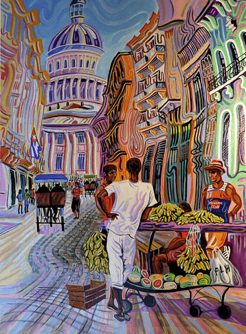 CAPITOLIO DE LA HABANA (LA HABANA). Oleo sobre lienzo. 130 x 97 x 3,5 cm.