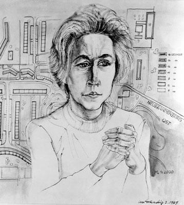 Gafk-Porträt-Zeichnung von Iris Grund