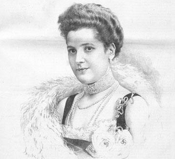 Die Schausplerin Margit Höllrigl, Gebliebte von Großherzog Adloph Friedrich VI. von Mecklenburg-Strelitz