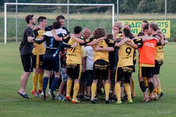 Der zweite Platz in der Landesligasaison 2014/15 war der bis heute größte Erfolg in der Vereinsgeschichte des TUS Heiligenkreuz am Waasen.