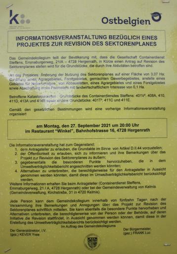 Sektorenplanänderung, Containerdienst, Steffens, Steinbeißer, Asphest, Feinstaub