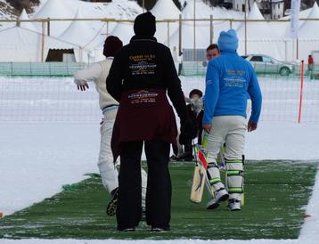 St Moritz batting against Lyceum Alpinum (COI 2016)