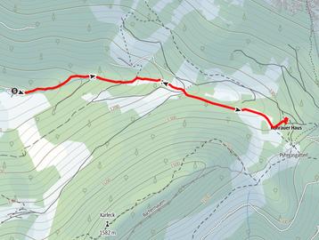 Route von der Bosruckhütte zum Rohrauerhaus