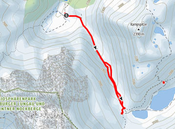 Route von der Ursprungalm zur Giglachseehütte