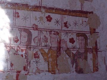 Fresques de la chapelle d'Isabelle de Luynes XIVè