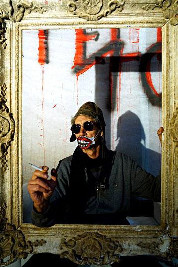 Street-Art Huile sur papier champs-élysées paris  2015