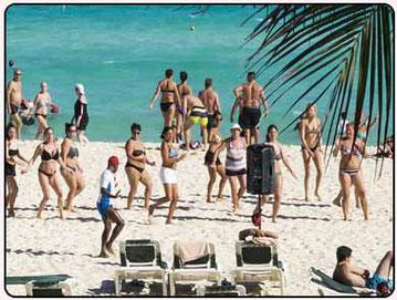 animador para despedidas en las playas de Huelva