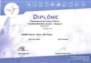 vice championne de FRANCE à Moulins