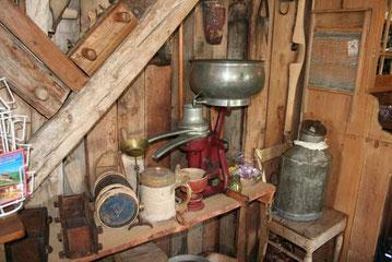 Bauernhof - Noch in den 50er Jahren übliche Alltagsgegenstände