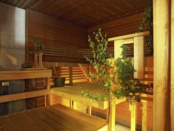Sauna auf der Insel Uunisaari
