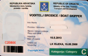 kroatische küstenpatente bootsführerschein yachtführerschein boat skipper c inklusive ukw funk