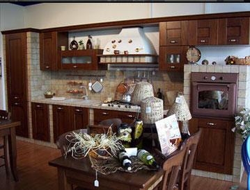 cucina in muratura e listellare