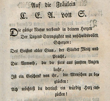 (Georg August von Breitenbauch, Gedicht an die junge Frau von Schardt, spätere von Stein 1764)