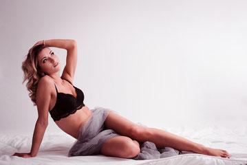 vrouw boudoir houding