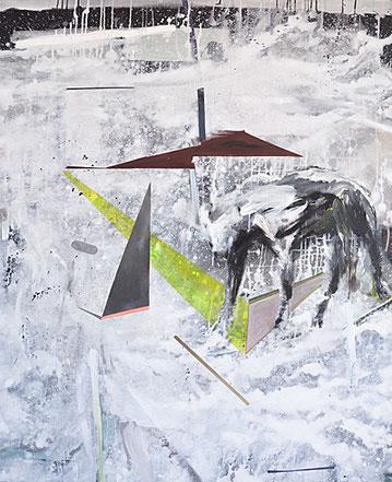 Martin Mohr  Sonnenkönig Acryl, Lack und Öl auf Baumwolle  150 x 110 cm