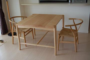 木のテーブル Yチェア シンプル ダイニングテーブル