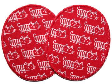 Bild: extra große Knieflicken zum aufbügeln mit Katzen, Hosenflicken mit Katzen für Kinder