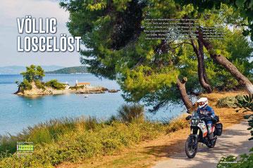 Völlig losgelöst: Auf einer kleinen, per Boot zu erreichenden Insel vor dem Strand von Ellinika steht das Kirchlein des Heiligen Nikolaos.