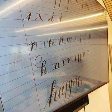 Kalligraphie im Großformat