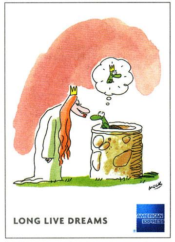 Illustration von Mock für American Express